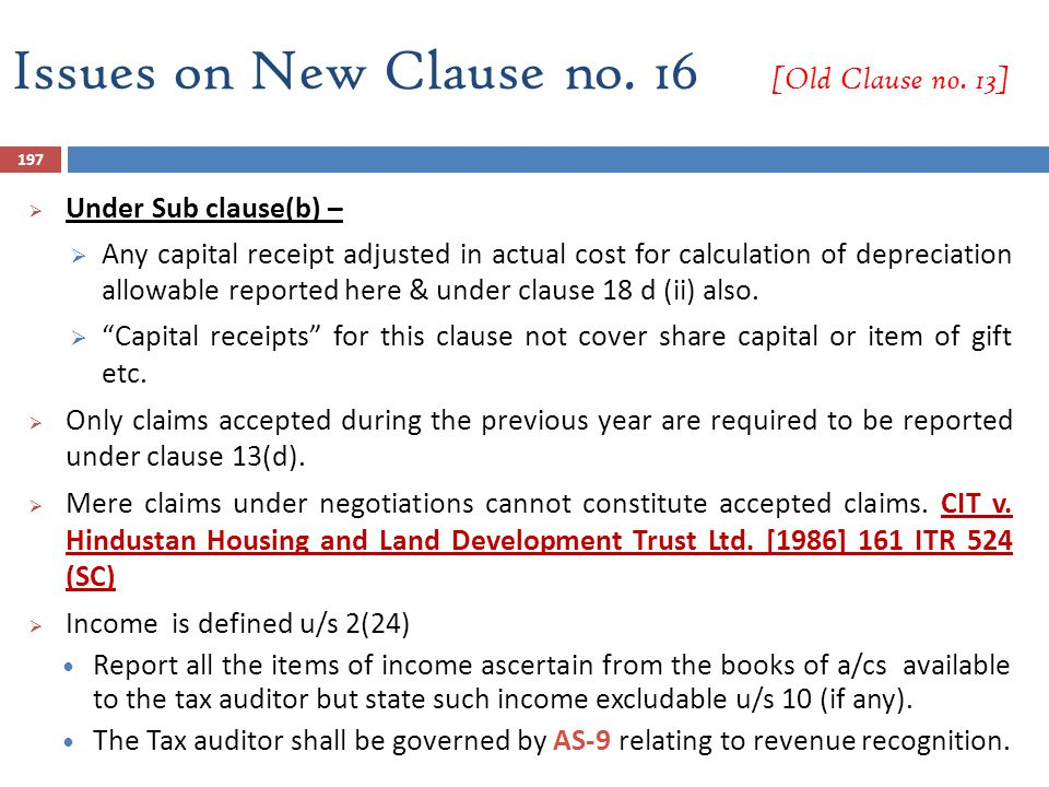 Issues on New Clause no. 16 [Old Clause no. 13]